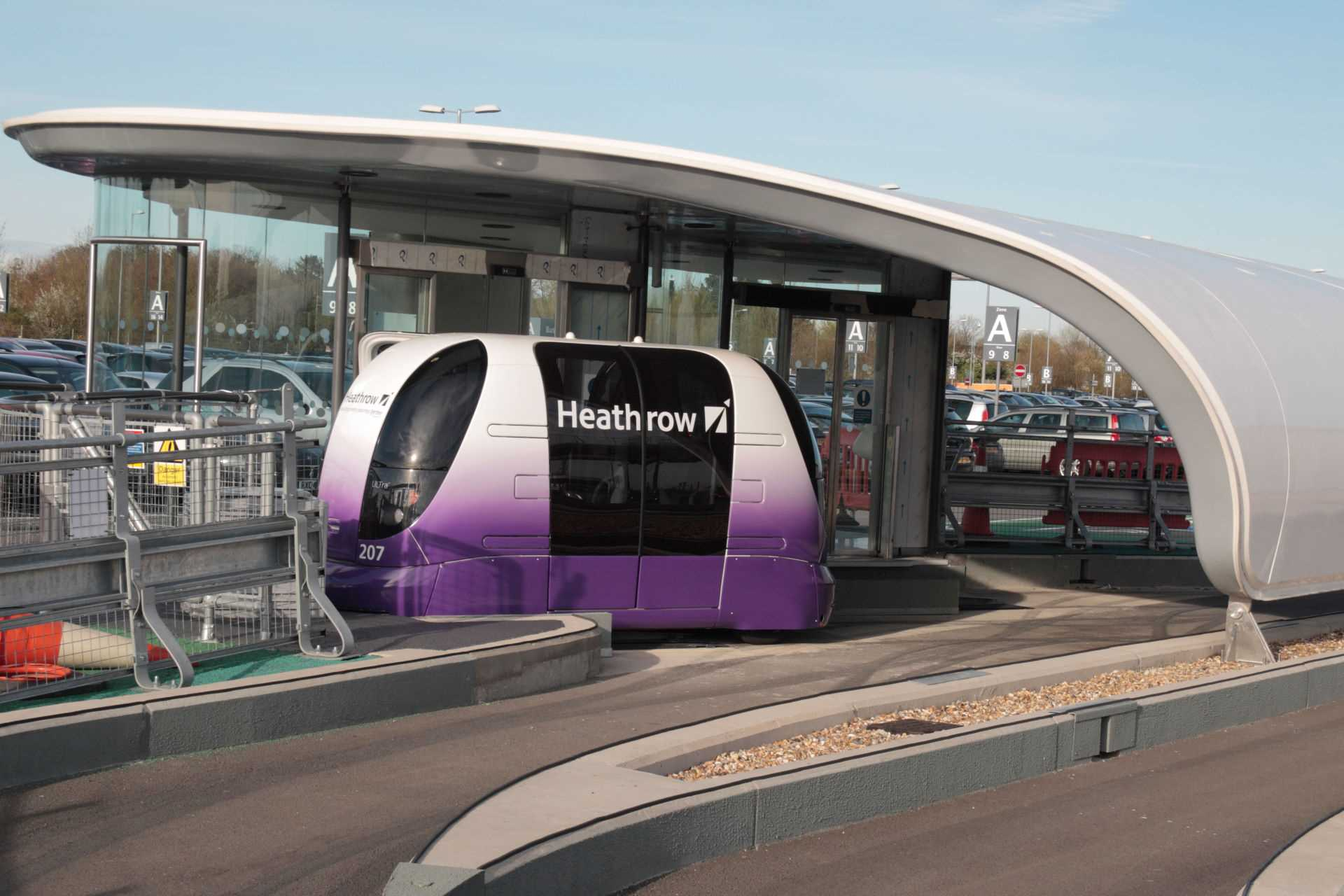 Heathrow Airport Personal Rapid Transit PRT System