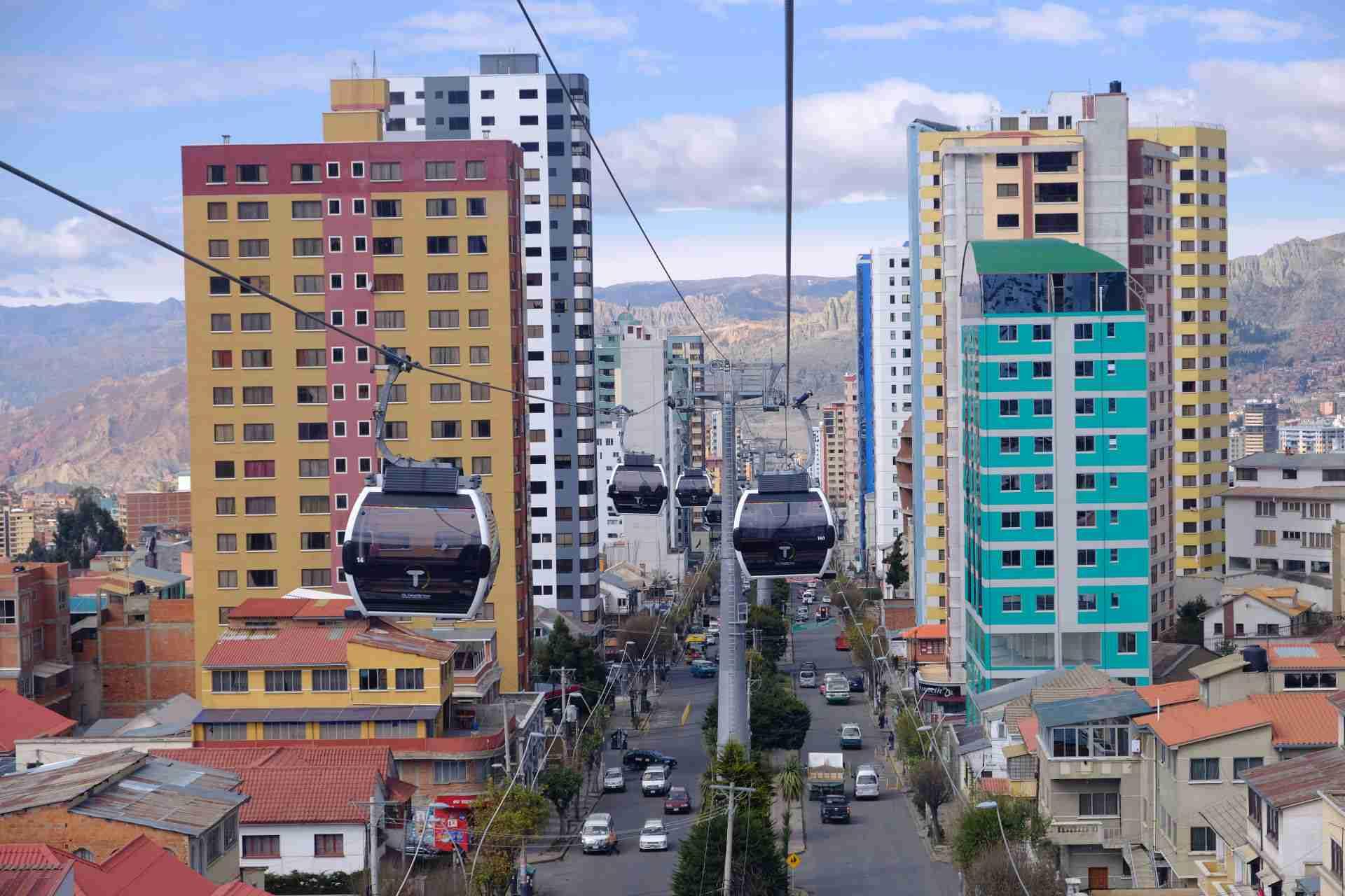 La Paz Cable Car System in Bolivia
