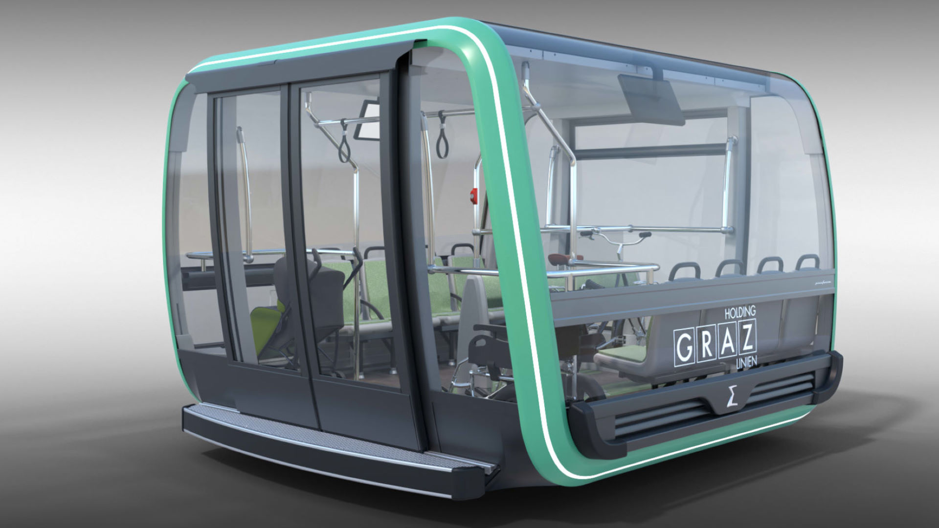 Mur-river Cable Car Graz TGD Cabin
