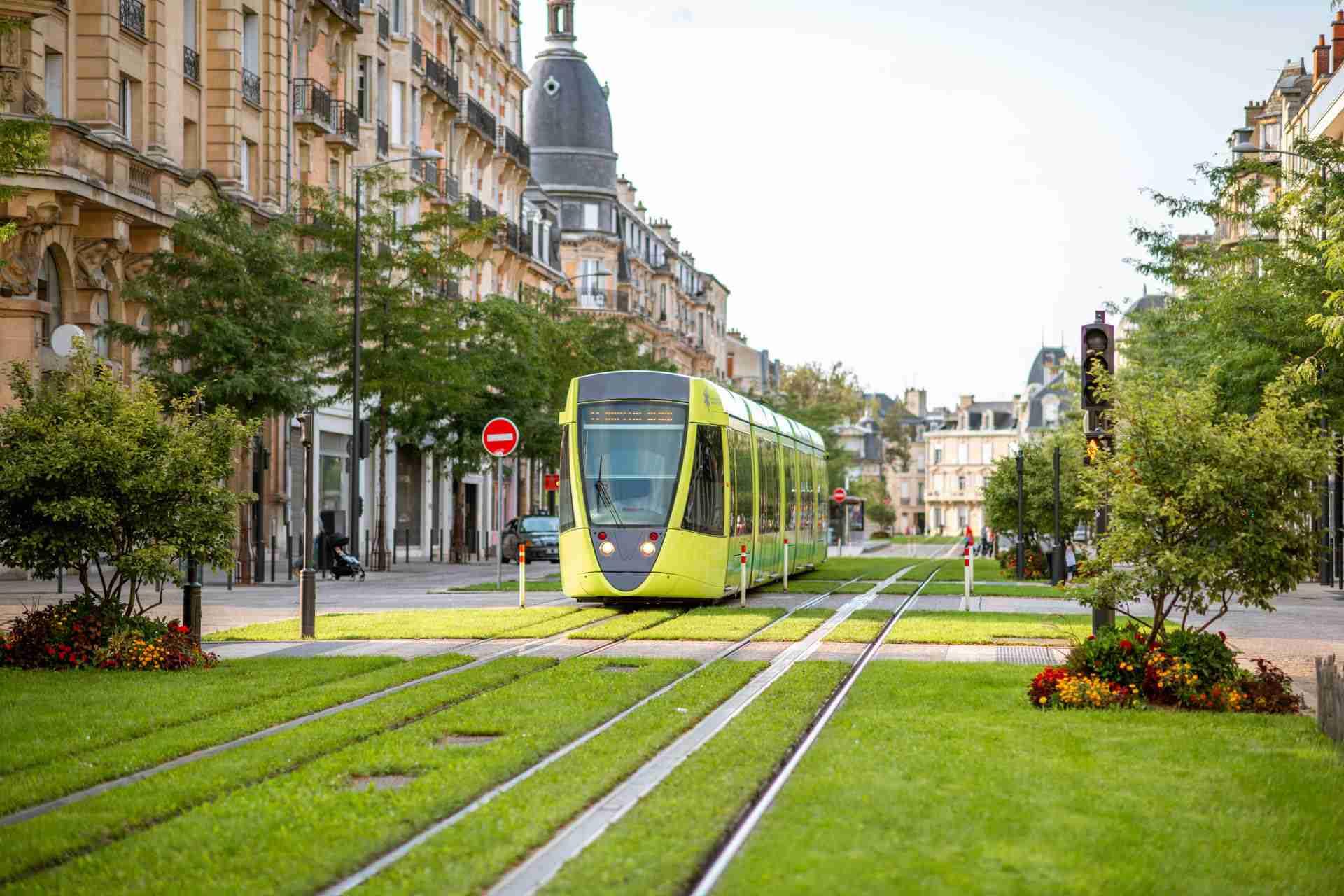Reims Tram Urban Transport System